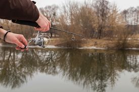picture of fly rod  - Winter spinning - JPG