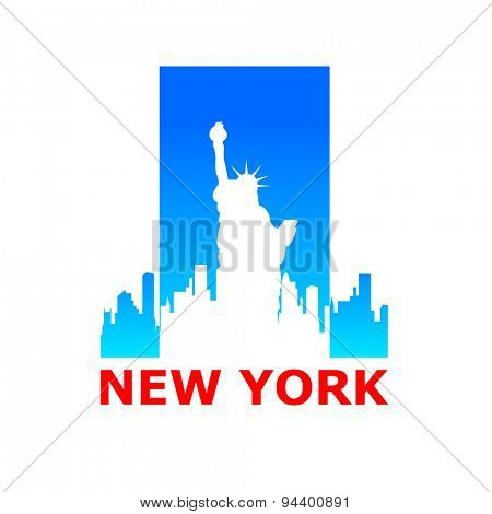 New York city skyline silhouette. Template for design.