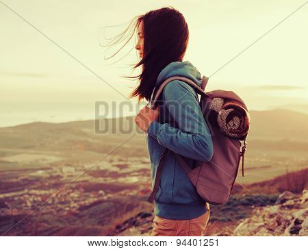 Hiker Young Woman Outdoor