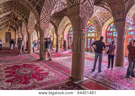 Tourists in the praying room