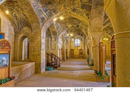 Interior of the Nasir Al-Mulk Mosque in Shiraz