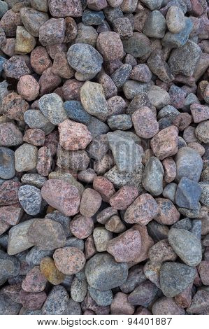 The heap of granite rubble