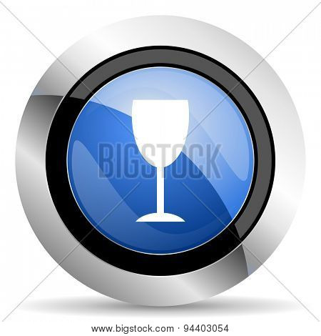 alcohol  icon glass sign original modern design for web and mobile app on white background