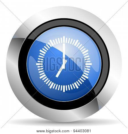 time icon clock sign original modern design for web and mobile app on white background