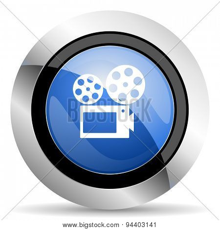 movie icon cinema sign original modern design for web and mobile app on white background