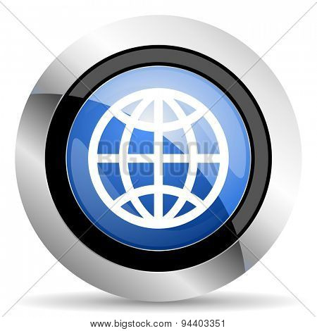 earth icon  original modern design for web and mobile app on white background