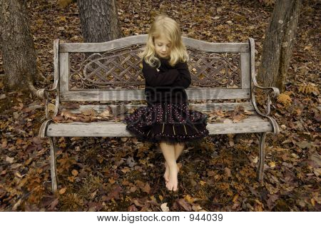 Antique Bench Girl