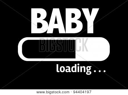 Progress Bar Loading with the text: Baby