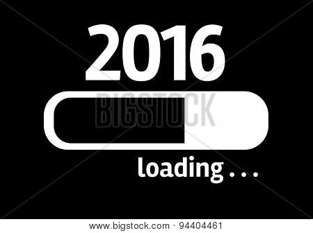 Progress Bar Loading with the text: 2016