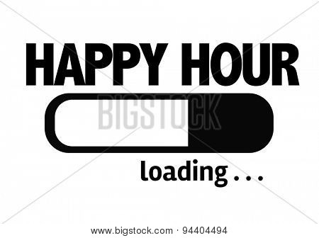 Progress Bar Loading with the text: Happy Hour