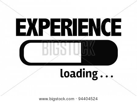 Progress Bar Loading with the text: Experience