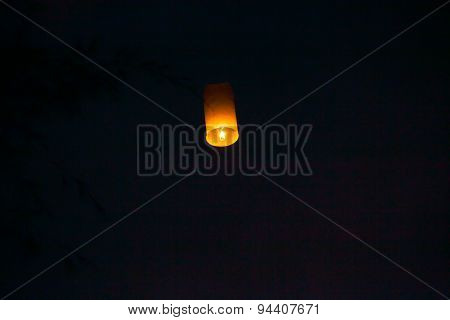 Floating Lanterns In The Evening Sky