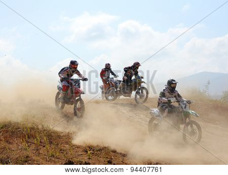 Arsenyev, Russia - Aug 30: Rider Participates In The  Round Of The 2014 Russia Motocross Championshi