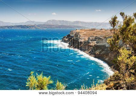 View Of The Rocky Sea Coast