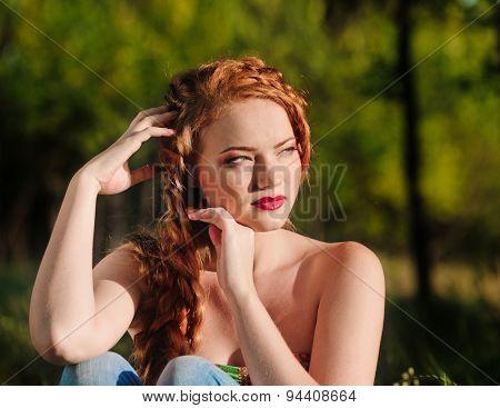 redheaded girl portrait
