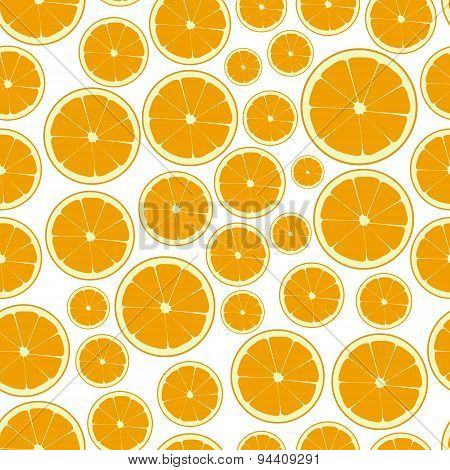 Half Color Orange Fruits Seamless Pattern Eps10