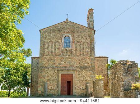 Farneta Abbey In 1014 In Cortona, Tuscany, Italy