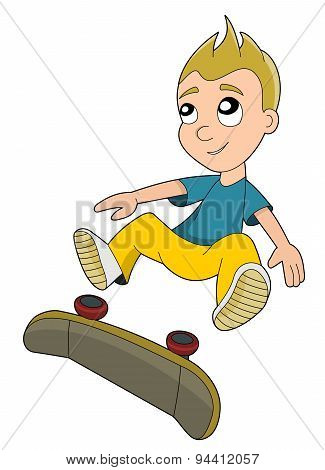 Skateboarding Boy Cartoon