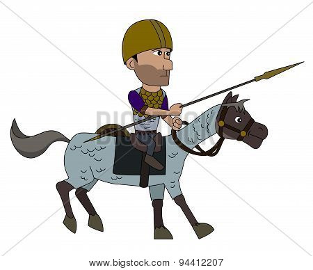 Ancient Spanish Warrior Cartoon