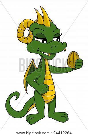 Little Dragon Girl Cartoon
