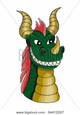 Cartoon Dragon Head
