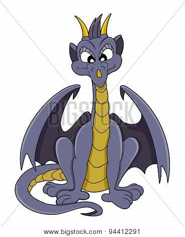 Cute Purple Dragon Cartoon