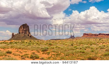 Rock Formations On The Way To Monument Valley
