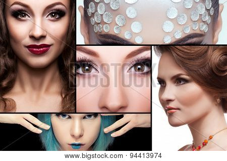 Collage Of Fashion Make Up Images