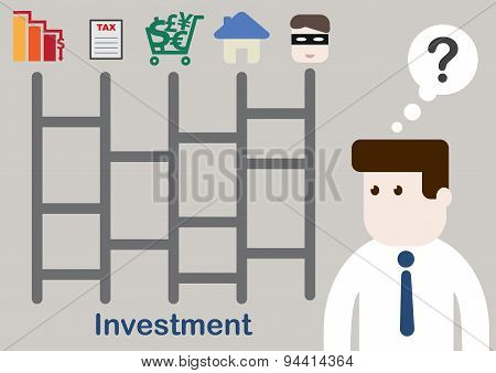 Businessman Plan Your Money For Investment