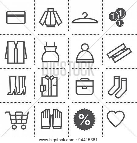 flat icon set: department store