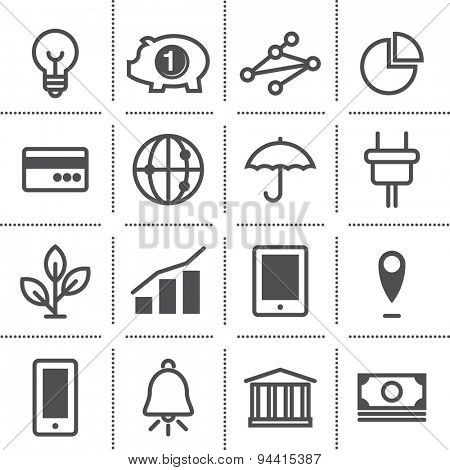 flat icon set: marketing