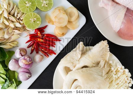 Thai Tom Yum Soup Ingredients