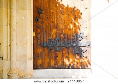 Old London Door In   Abstract Hinged