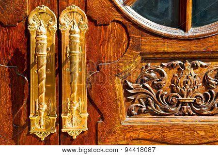 Old London Door In England