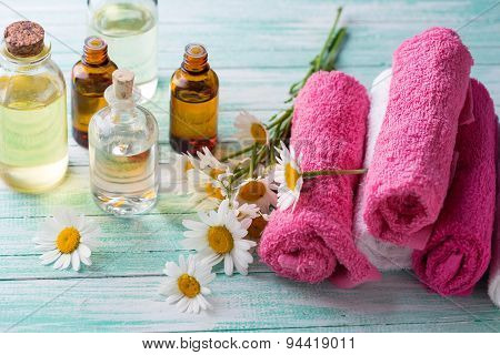 Essential Aroma Oil And Towels