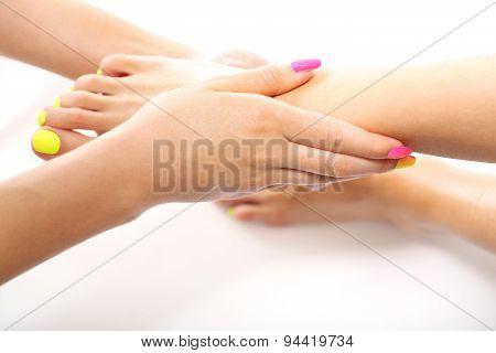 Moisturized feet
