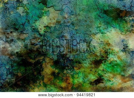 Abstract Background With Spots And Crackle Structure..