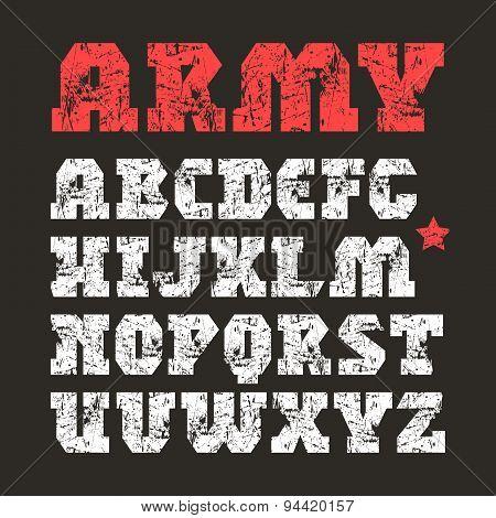 Serif Font Geometric Form