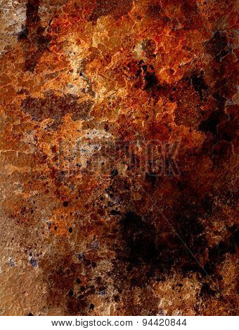 Abstract Background With Rust Structure