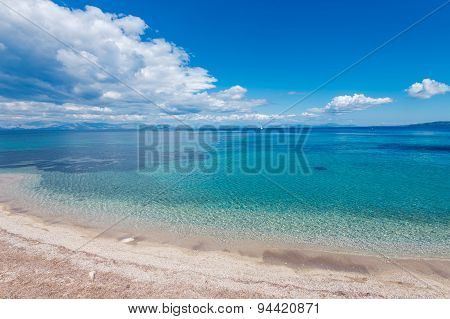Agios Ioannis beach in clouds