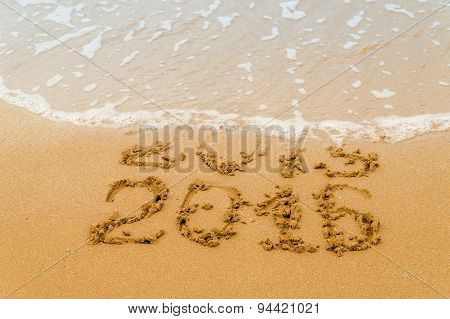 New Year 2016 - inscription 2015 and 2016