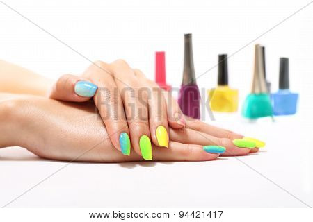 Colored fingernails