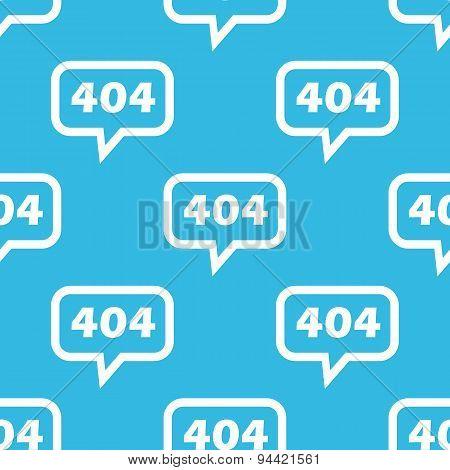 Error 404 message pattern