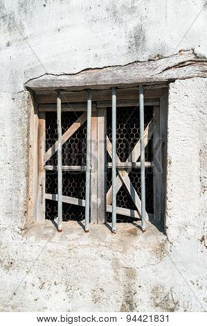 Old window of Greek traditional house