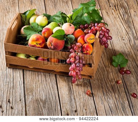 Assortment Of Fruits In A Box