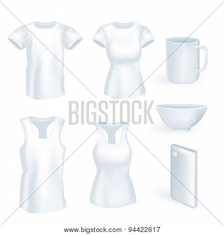 Set volume t-shirt mug, phone