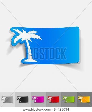 realistic design element. palm