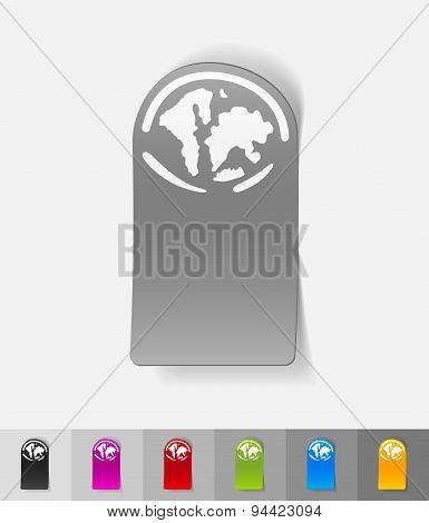 realistic design element. the World Islands