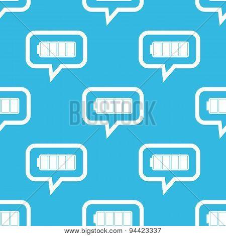 Full battery message pattern