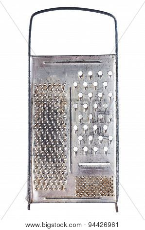 Old Metal Grater On White Background